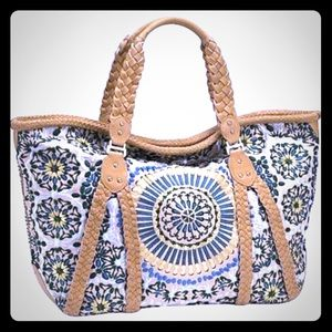 Cole Haan Carryall Sierra Embroidered Boho Purse